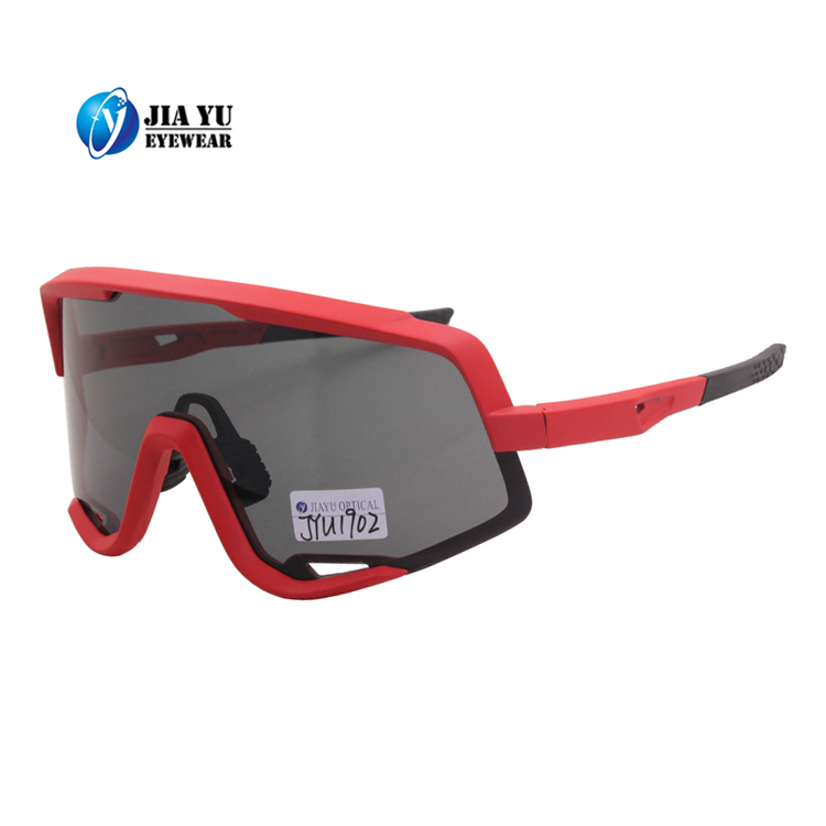 New Designer Red Safety Glasses Rubber Nose Pad Anti Scratch Sport Cycling Safety Sunglasses